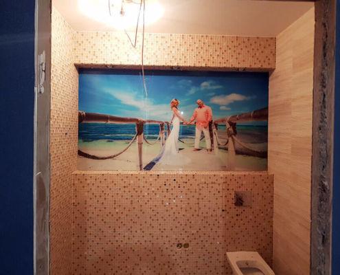 Стеклянное панно на стену с фотопечатью