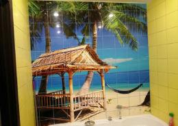 Панно с пальмами из плитки