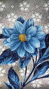 Мозаика цветок панно