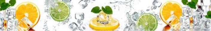 фартук для кухни кружки лимон лайм