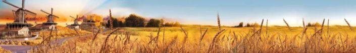 фартук для кухни пшеничное поле и мельницы