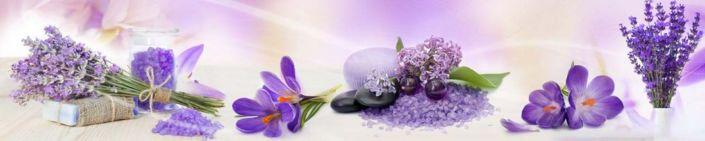 фартук для кухни фиолетовая композиция из цветов
