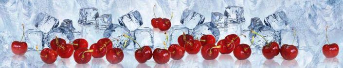 фартук для кухни ягоды вишни и ледяные кубики