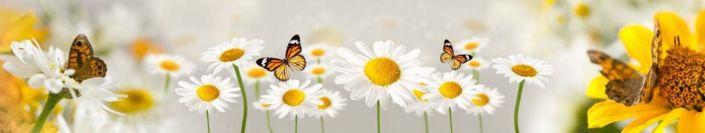 фартук для кухни ромашки и бабочки