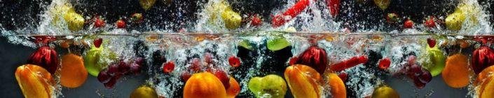 фартук для кухни фрукты экзотические в воде