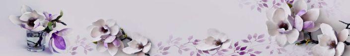 фартук для кухни орхидея в сиреневом цвете