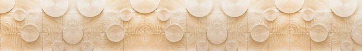 фартук для кухни фактурный узор квадрат и круг в бежевом