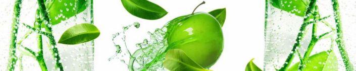 фартук для кухни зелёное яблоко