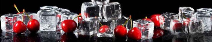 фартук для кухни вишни и лёд