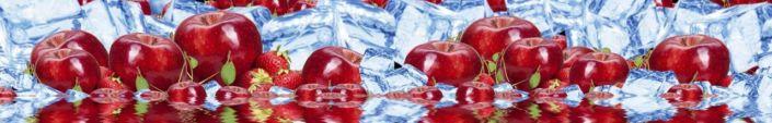 фартук для кухни красные яблоки