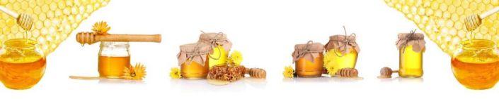 фартук для кухни мёд в банках