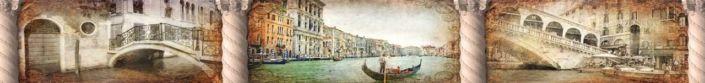 скинали для кухни фрески улочки на лодках в Венеции