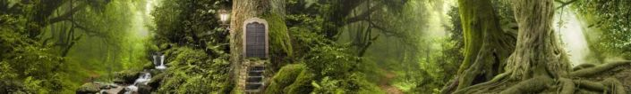 фартук для кухни зелёный сказочный лес