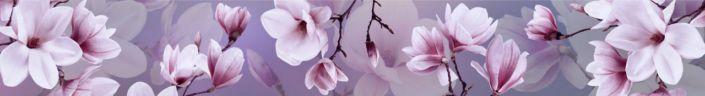 фартук для кухни цветки розовые на ветке