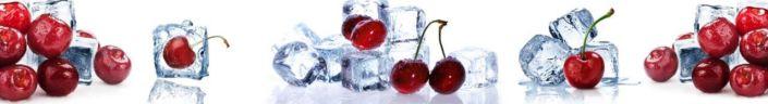 фартук для кухни вишни и кубики льда