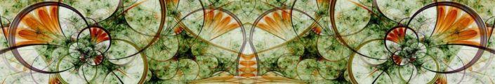 фартук для кухни цветная абстракция в мраморно-зелёном цвете