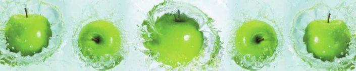 фартук для кухни большие зелёные яблоки