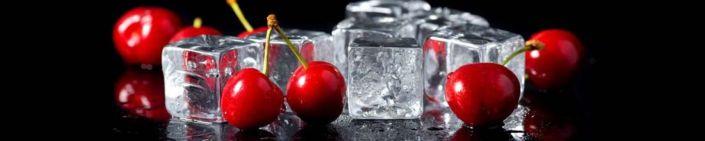 фартук для кухни вишня и ледяные кубики
