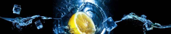 фартук для кухни вода кубики льда лимон