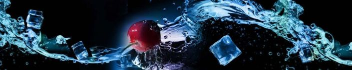 фартук для кухни вода кубики льда вишня