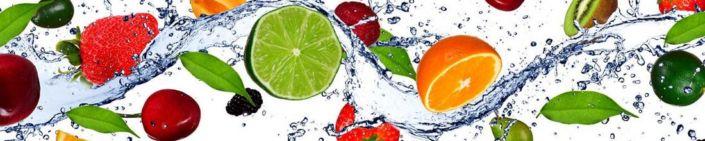 фартук для кухни ягоды и цитрусы