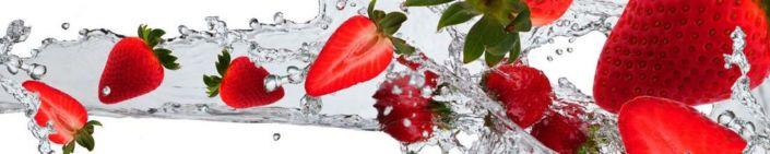 фартук для кухни клубника и вода