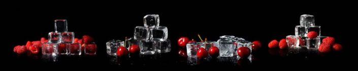 фартук для кухни кубики льда малина вишня
