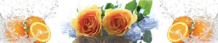 фартук для кухни апельсин и розы