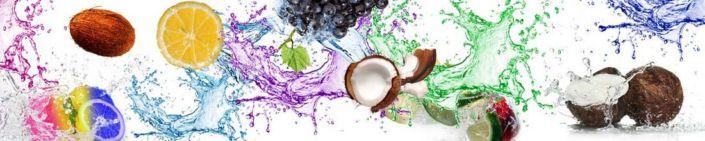 фартук для кухни кокос с цветными брызгами