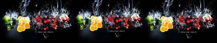 фартук для кухни ягоды и фрукты