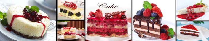 фартук для кухни пирожные с ягодными десертами