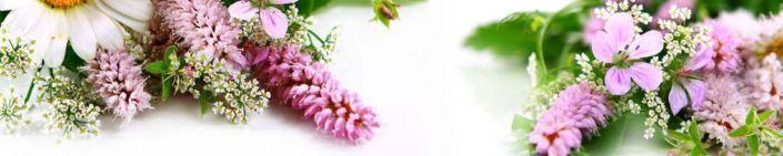 фартук для кухни букеты цветов полевых