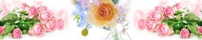 фартук для кухни букеты роз розовых