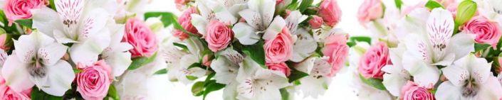 фартук для кухни букет цветов