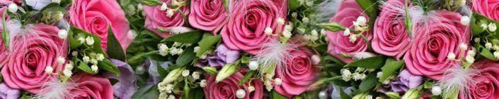 фартук для кухни розовые розы