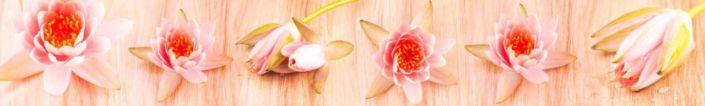 фартук для кухни кувшинки лотоса розового