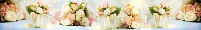 фартук для кухни букеты роз