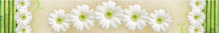 фартук для кухни белый цветок ромашки