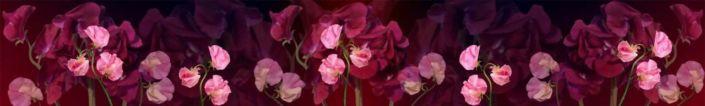 фартук для кухни розовые цветы