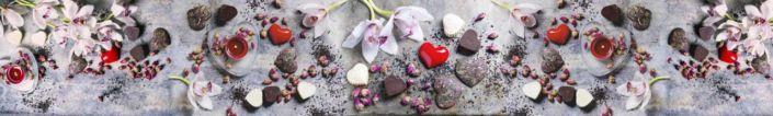 фартук для кухни шоколадные канфеты сердечки