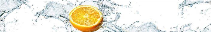 Скинали для кухни апельсин с водой