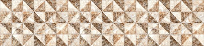 фартук для кухни коричневый триугольники с узором в квадратах
