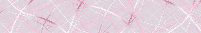 фартук для кухни абстракция розовая с линиями
