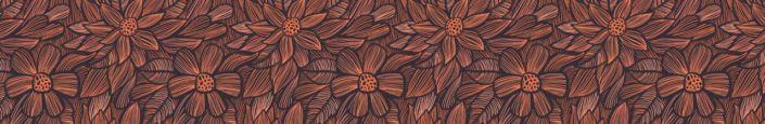 фартук для кухни цветок рисунок в коричневых тонах