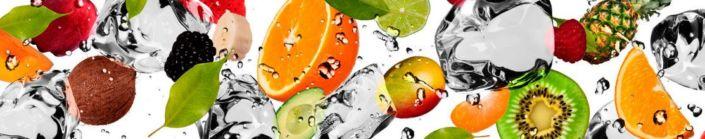 Скинали для кухни фрукты в брызги