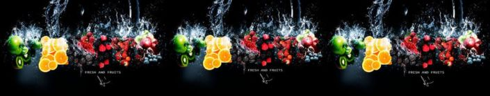 Скинали для кухни ягодно-фрутковый микс