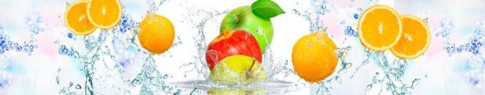 Скинали для кухни апельсины и яблоки