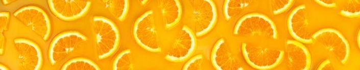фартук для кухни дольки лимона на жёлтом