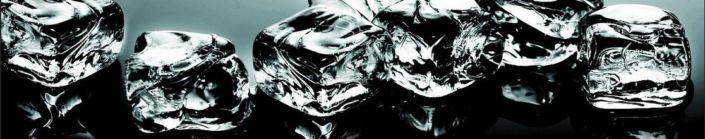 Скинали для кухни кубики льда чёрно-белые