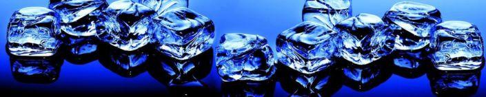 Скинали для кухни кубики льда синии